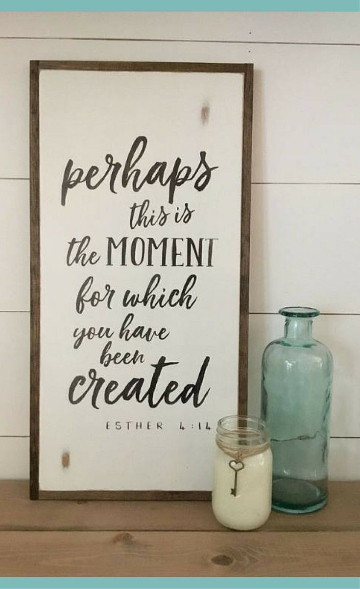 Perhaps This Is The Moment Sign Farmhouse Scripture Wall Decor Painted Framed Wooden Sign Farmhouse I Scripture Wall Decor Shabby Chic Homes Rustic Wall Art