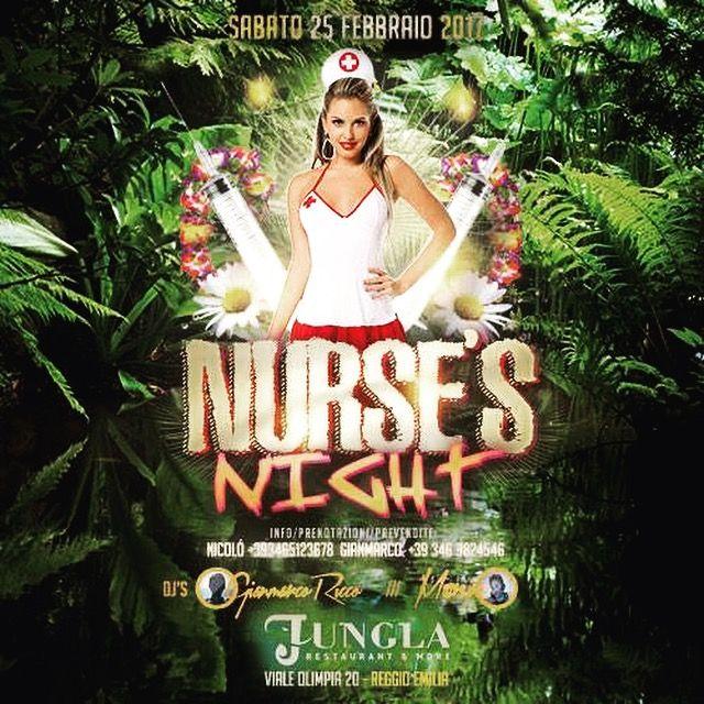 #nursesparty #collegeparty #unuversityparty sabato 25.2.17 supported by #kickystaff #dimitrimazzoni