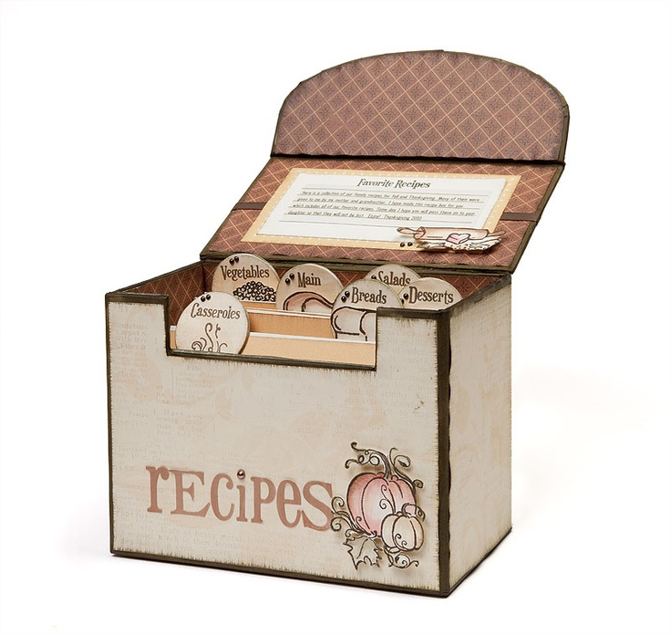 Recipe box idea from #CTMH