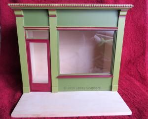 Make a Classic Shop Front for a Model Scene or Roombox: Detail of a Traditional Dollhouse Shop Front