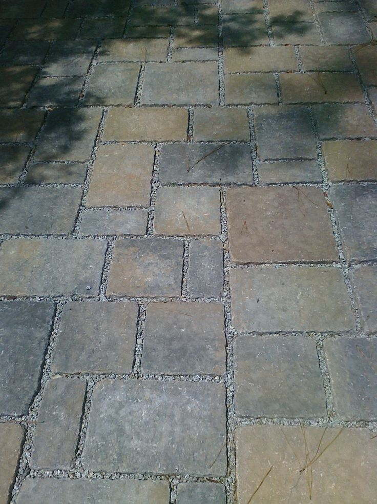"""Eco Dublin"" Pavers. Various sizes and colors with narrow joints-very nice. Like color and pattern."