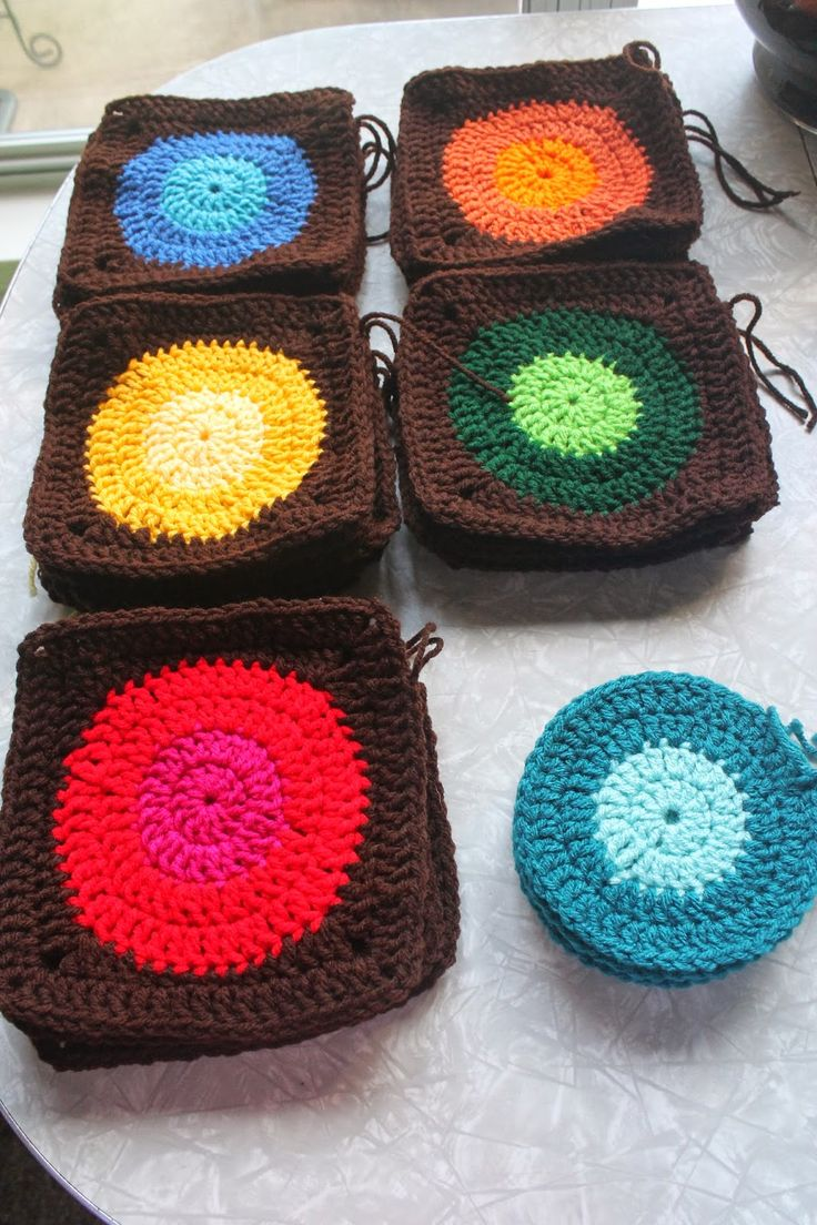19 best Circles Afghan - Friendship Blanket Crochet images on ...