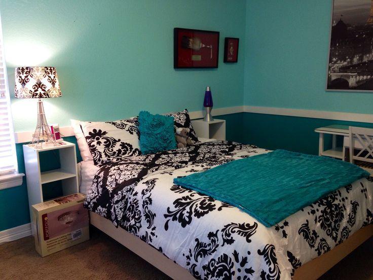 Turquoise teen bedroom | reno new bedroom | Pinterest
