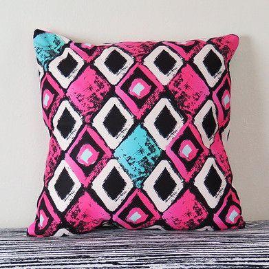 Grunge Red Triangle Geometric Throw Pillow