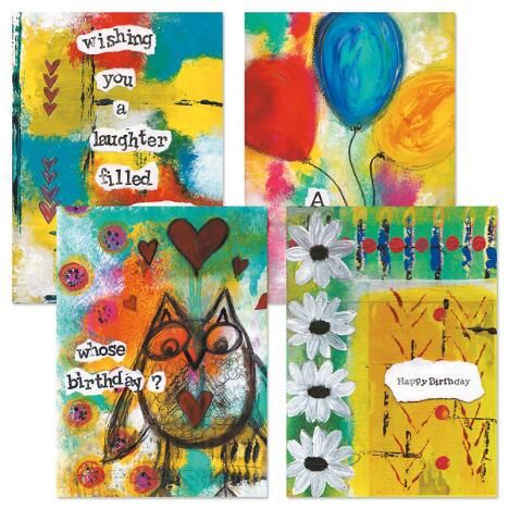 Painterly Birthday Cards & Seals Was: $4.99           Now:             	           	          		$3.99