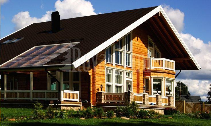 Aus finnland finnisches blockhaus finnisches naturstammhaus