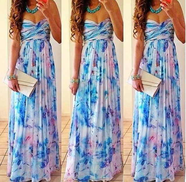 Bridesmaids dress idea maxi dresses for outdoor summer for Dress for summer outdoor wedding