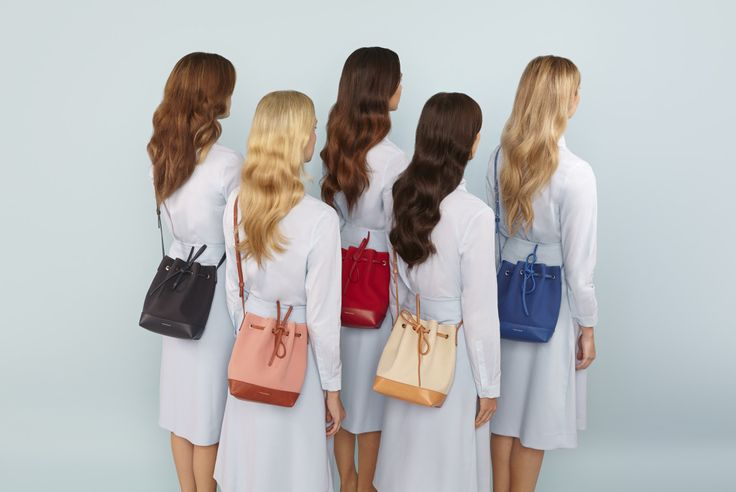 Mansur Gavriel SS 2015 campaign, featuring tote bags, backpacks and the iconic bucket bag.