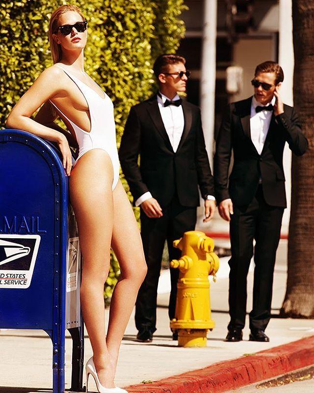 Erin Heatherton for @gq_germany @erinheathertonlegit #modelsecurity #megamodel #usps #SI #bodyguards #victoriassecret #Angel