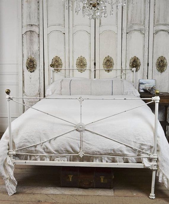 Shabby Antique Iron Bed By FullBloomCottage On Etsy, $995.00