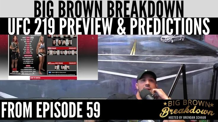 awesome #Brendan Schaub's UFC 219 Preview and Predictions -VIDEO