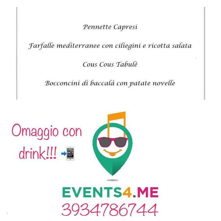 Buffet Omaggio Donna con Drink Omaggio!!!3934786744 #Events4me venerdì e sabato