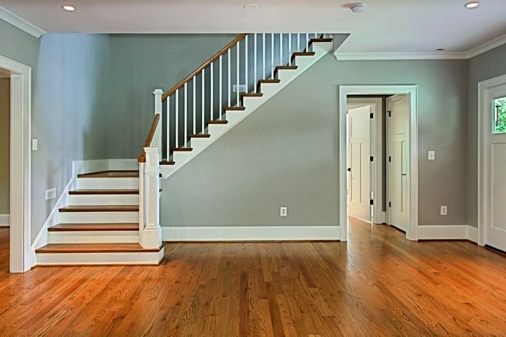 Foyer with turned staircase | 2755 N Quincy | Pinterest | Staircases,  Foyers and Open