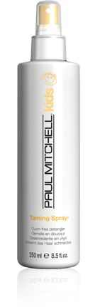 """Taming Spray from the Paul Mitchell Kids Line easily detangles dry or damp hair, and leaves hair fresh and full of body! Plus, helps eliminatestatic and control kids' """"morning hair."""""""