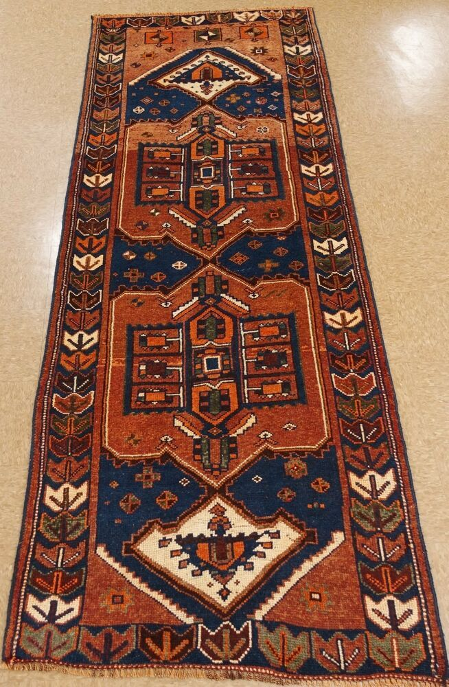 Hand Knotted Rug Number Rust Ivory Blues Greens Orange