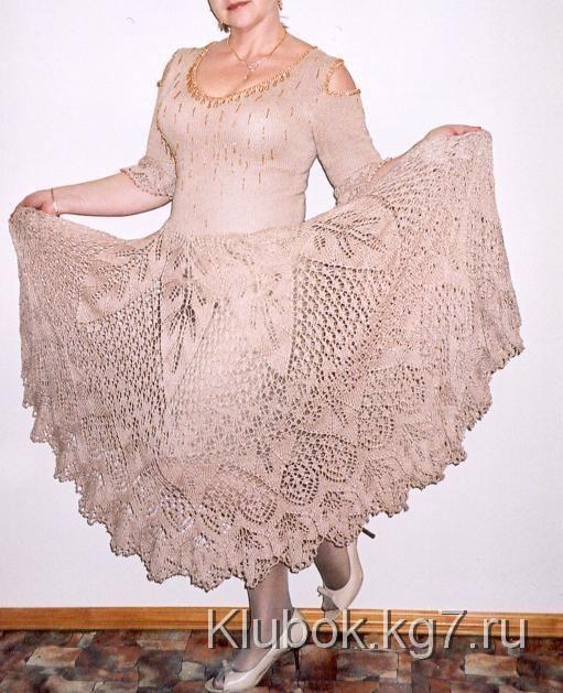 Вязаная юбка - солнце с описанием и схемами   Клубок