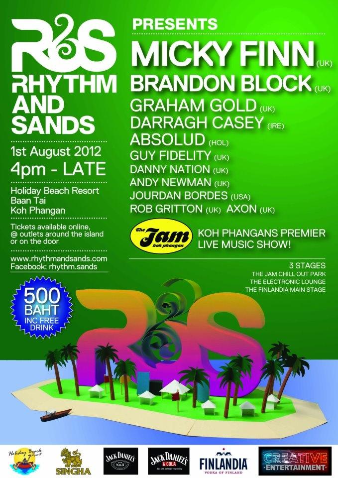 Rhythm and Sands presents Micky Finn (UK) + Brandon Bloc + more! 1st August 2012