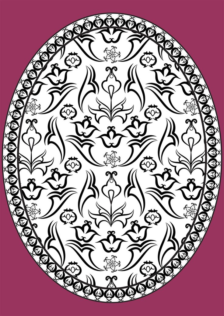 An oriental pattern for coloring in by Antonina Kalinina.