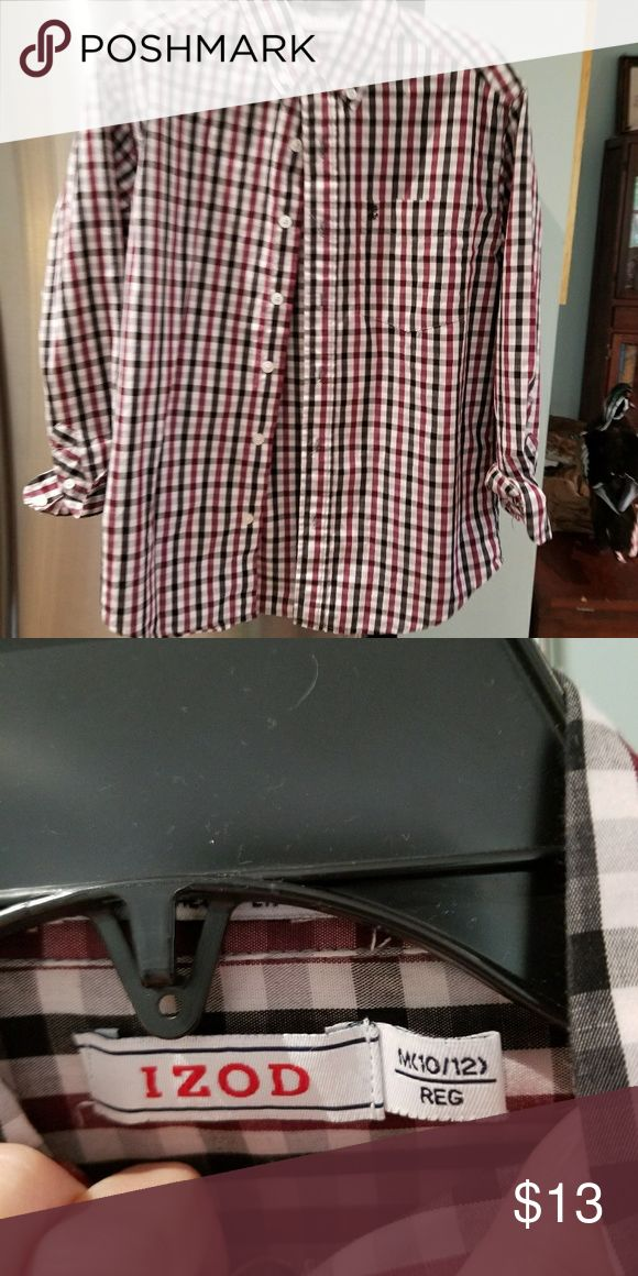 Boys dress shirt Button down. Barely worn EUC no tears or stains izod Shirts & Tops Button Down Shirts