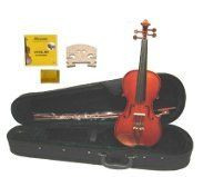 GRACE GV30 110 Size Solid Wood Hand Made Boxwood  Ebony Fitted Violin with Hard CaseBow2 Sets of Strings2 BridgesRosin ** Details can be found by clicking on the image.Note:It is affiliate link to Amazon. #likeall
