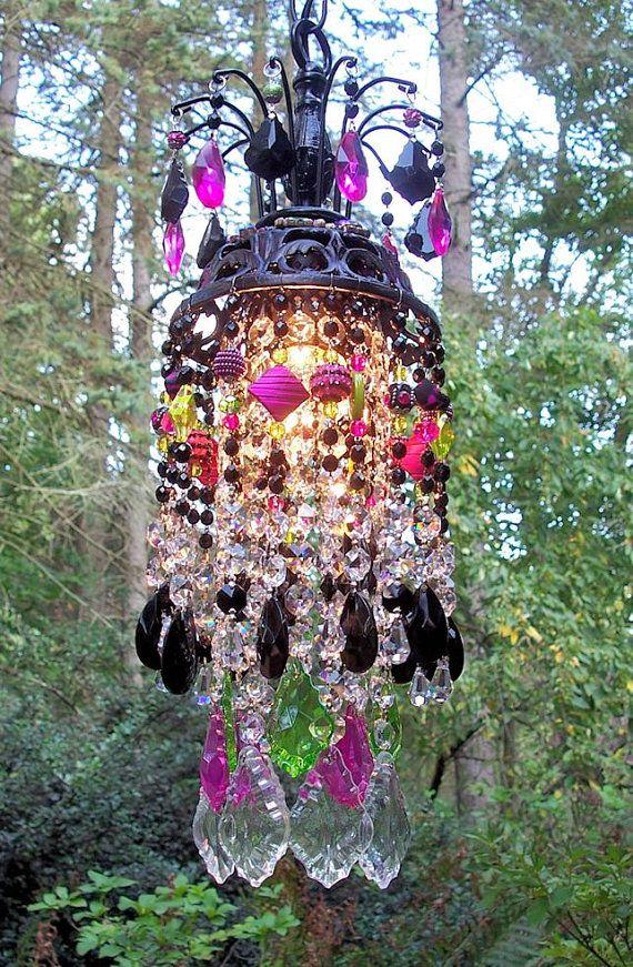 Jeweled Lámpara Chandelier de cristal de Bohemia por sheriscrystals