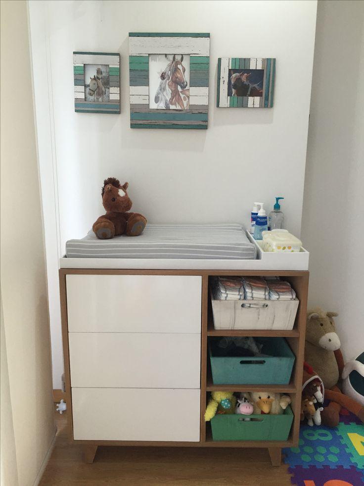 Mueble cambiador para beb s habitaci n para beb s for Mueble cambiador para bebe