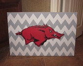 Chevron Razorback Canvas