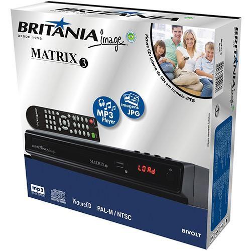 DVD Player Britânia Matrix 3 com Entrada USB