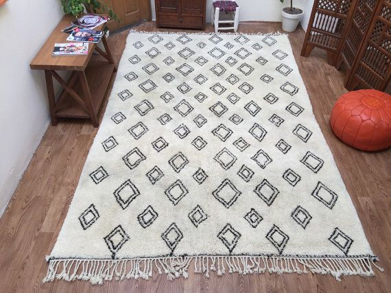Carpets for living roomLarge Beni ourain rug Teppich Tapis 6x10 Moroccan Decor Berber Rug Handmade Oriental 100% Wool Moroccan Berber