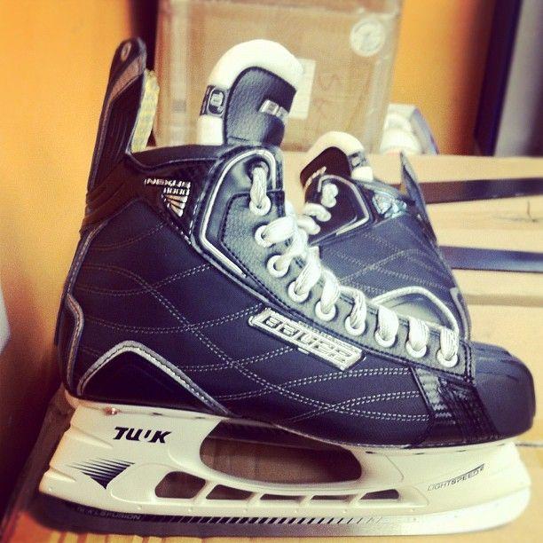 Brand new hockey skates for 2012-2013 hockey season! Love Bauer skates!!