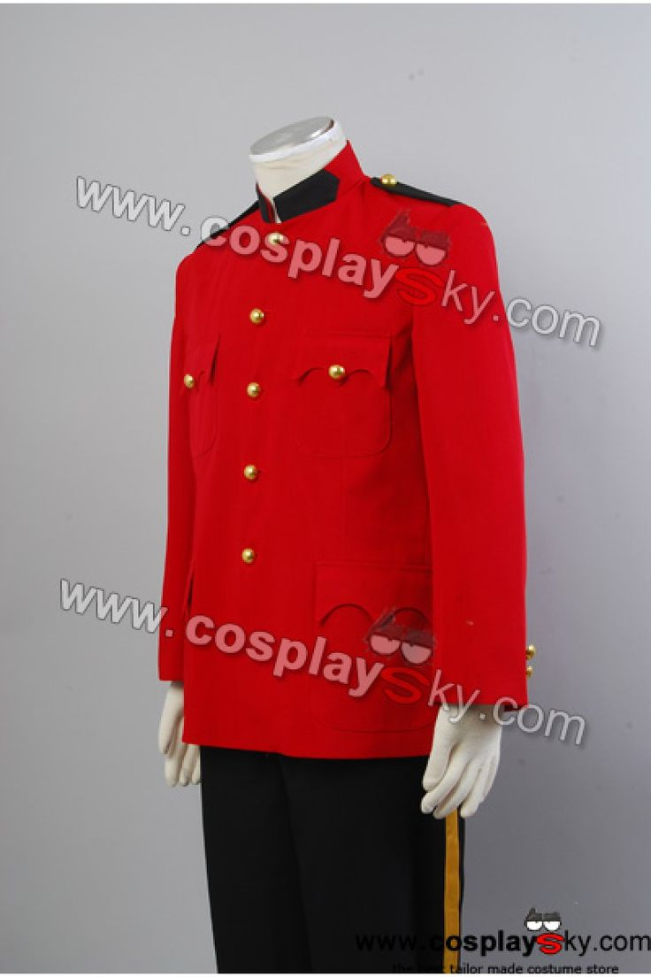 Due South Red Mountie Serge Uniform Tunic Costume-3