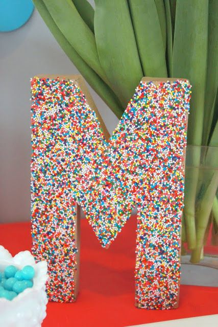 Sprinkles Initial by Mirabelle Creations and other amazing and fun Birthday party ideas!
