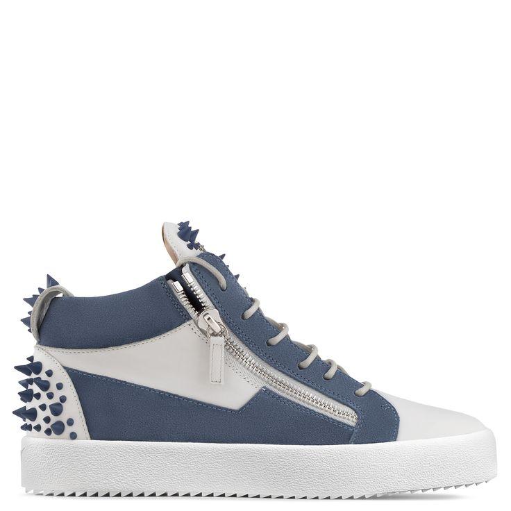 Conception Zanotti Kriss Chaussures De Sport Giuseppe Mi-top Métalliques - Noir L11QioxQQ