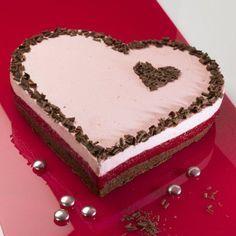 Gâteau coeur framboise   – angi