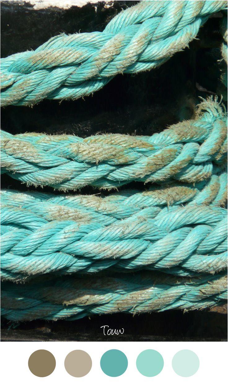 Clos-up foto van dik touw - garen. Mooie kleurencombinatie voor in ...