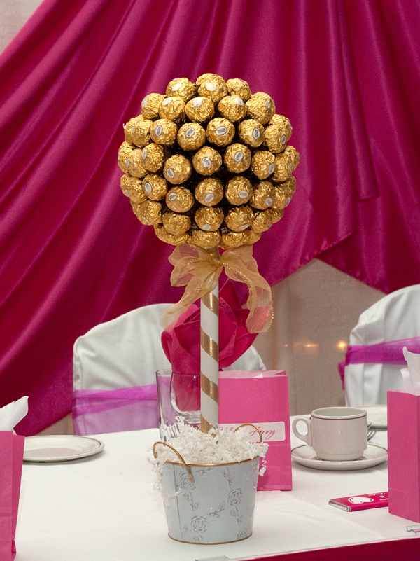 Ferrero Rocher Candy Centerpiece - just need that as centerpiece on dining table! - my favorite chocolate