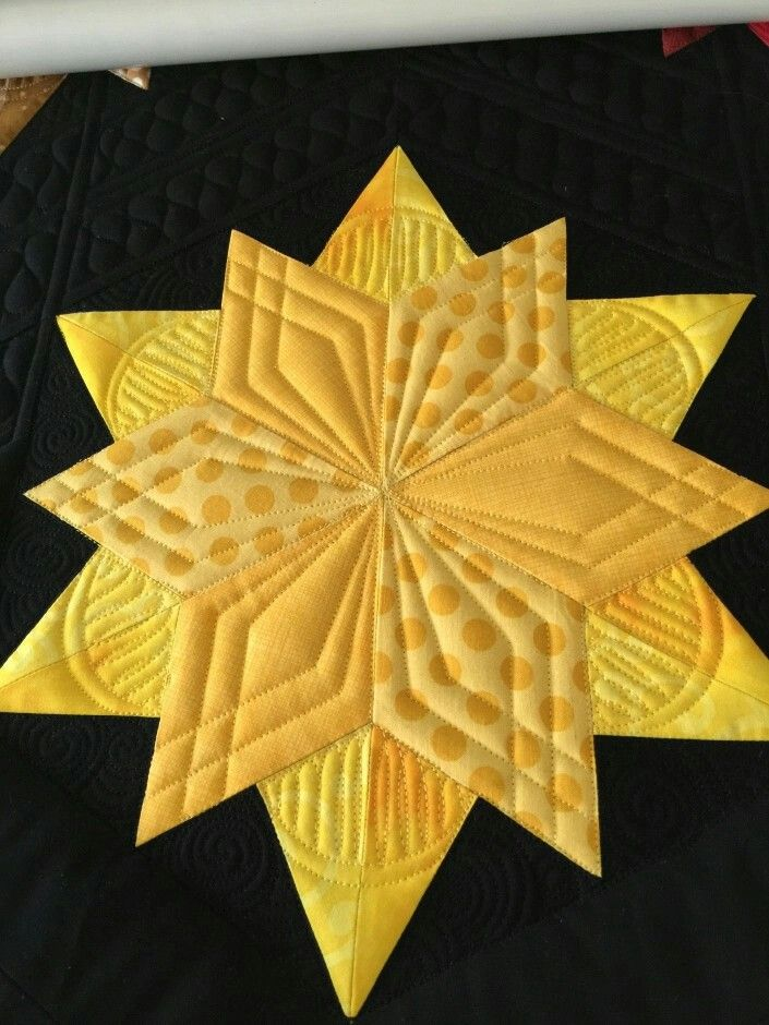 How to quilt a star block