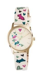 Radley Love Me Love My Dog Gold Plated Leather Strap Watch Analogue Quartz