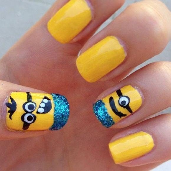 50 Adorable Despicable Me Minion Nail Designs