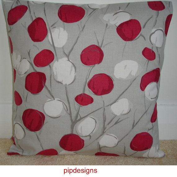 7 best images about red sofa cushions on pinterest linen Red and grey sofa