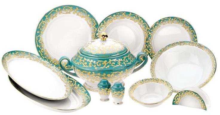 Kütahya Porselen Yemek Takımları Yasemin 77 Parça Yemek Takımı  #sanat evi