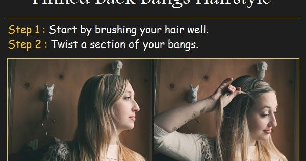 Pinterest Tutorials: Pinned Back Bangs Hairstyle