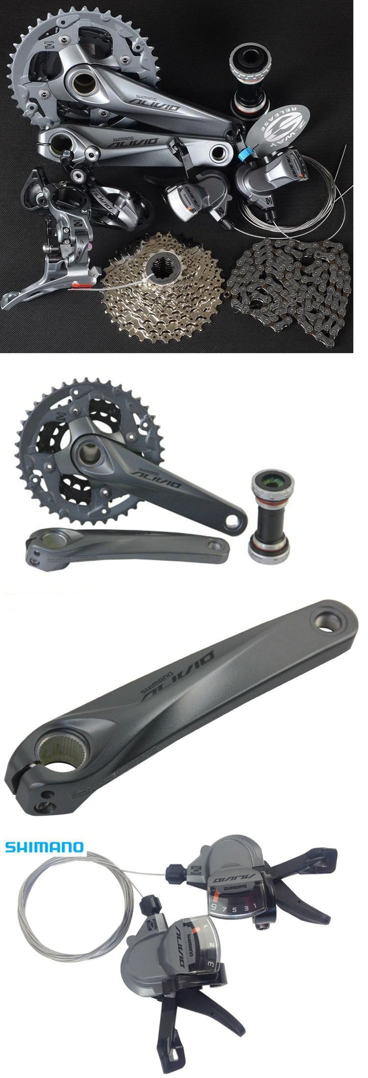 Build Kits and Gruppos 109120: New Shimano Mountain Bike Alivio M4000 Group Set 3X9 27 Speed 7 Pcs Crank 175Mm -> BUY IT NOW ONLY: $164.99 on eBay!