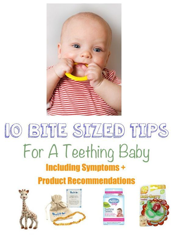Is my baby teething? This is one of the most common questions mothers of babies 5 months old and up start asking. The answer to that question may not be easy but here are some signs and symptoms that can help you solve the mystery as well as 10 tips and product recommendations to help ease the teething pain.