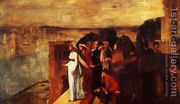 Semiramis Building Babylon, 1861  by Edgar Degas