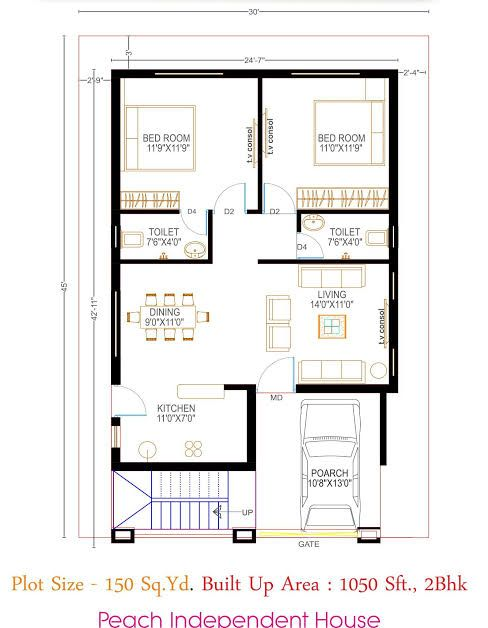 floor plan - Google Search   2bhk house plan, Indian house ...