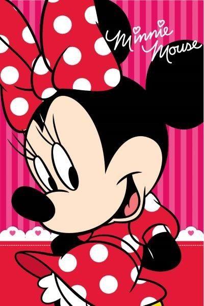 Ręczniki dla dzieci w kolorze różowym z Minnie Mouse