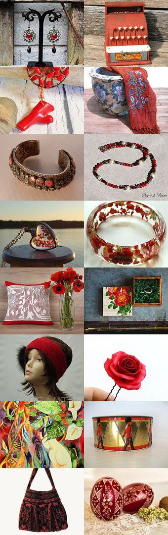 Touch of red... by Patrizia Marini on Etsy--Pinned+with+TreasuryPin.com