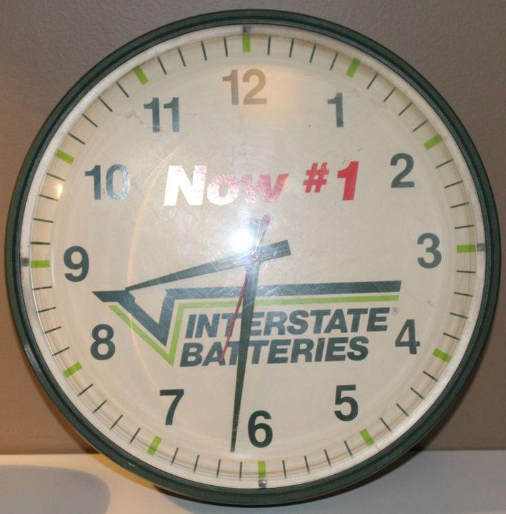 Vanity Plate Ideas For Realtors: Interstate Batteries Wall Clock 14 Man Cave Mechanics Shop