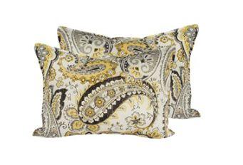 Warm Colour Paisley Print Pillow | Dream Weaver